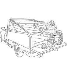 Coloriage pick up chargé à imprimer - Coloriage - Coloriage VEHICULES - Coloriage CAMION - Coloriage PICK UP