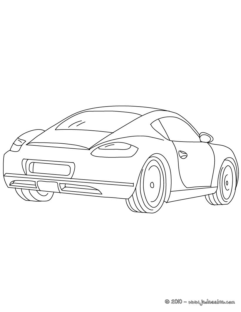 Coloriages porsche cayman colorier - Voiture de sport dessin ...