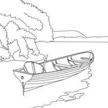 Coloriage : Petite barque à colorier