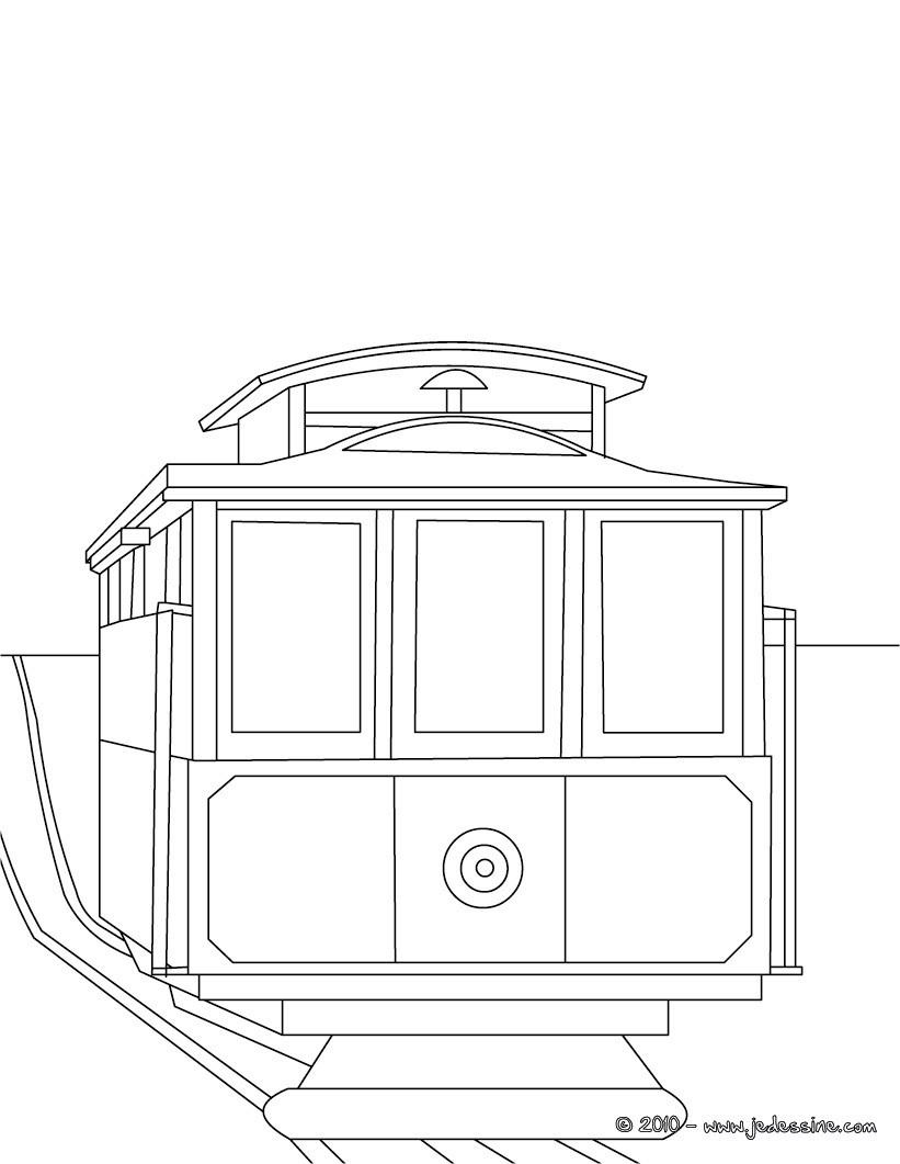 Coloriages coloriage arri re de tramway imprimer - Dessin tramway ...