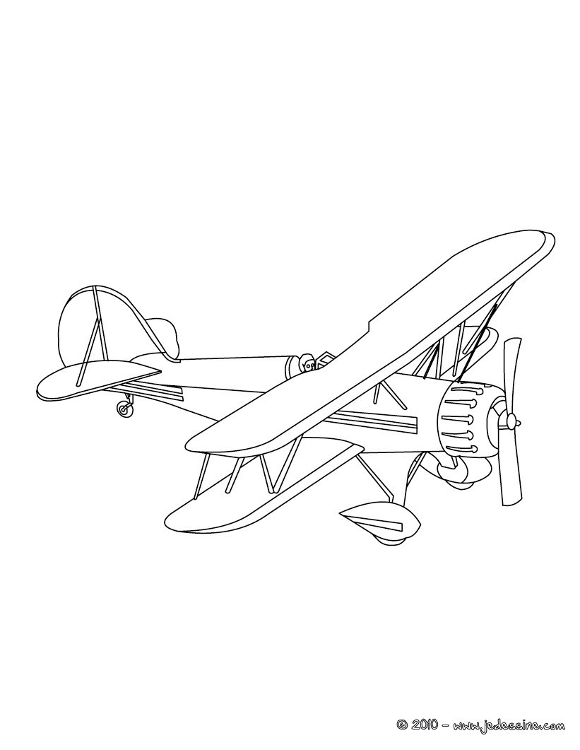 Coloriage Avion De Voltige.Coloriages Avions Coloriages Coloriage A Imprimer
