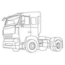 Cabine de camion de livraison à colorier - Coloriage - Coloriage VEHICULES - Coloriage CAMION - Coloriage CAMION DE LIVRAISON