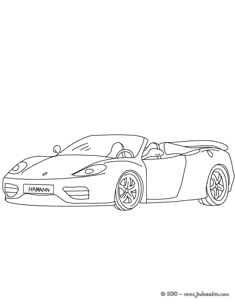 Coloriage : Ferrari 360 spider à Colorier