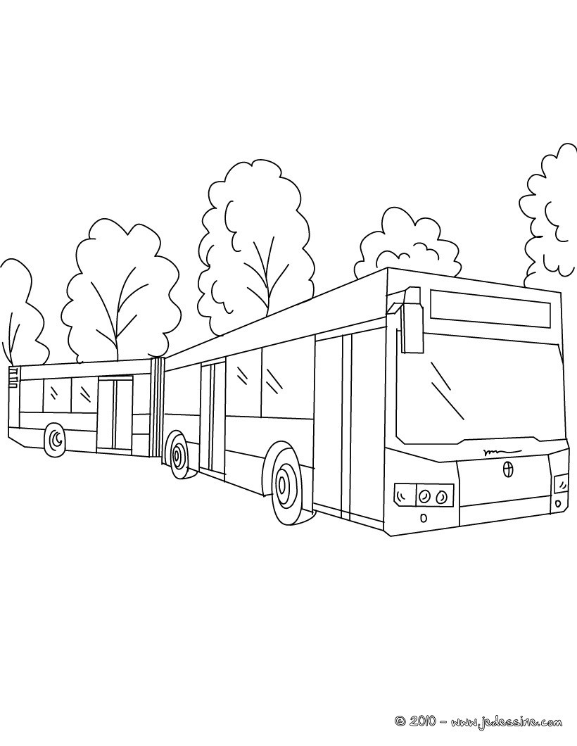 Coloriages coloriage d 39 un double bus gratuit fr - Dessin d un bus ...