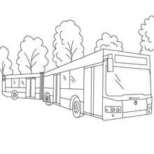 Coloriage d'un double Bus gratuit - Coloriage - Coloriage VEHICULES - Coloriage BUS
