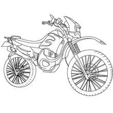 Coloriage moto-cross à imprimer - Coloriage - Coloriage VEHICULES - Coloriage MOTOS - Coloriage MOTO-CROSS