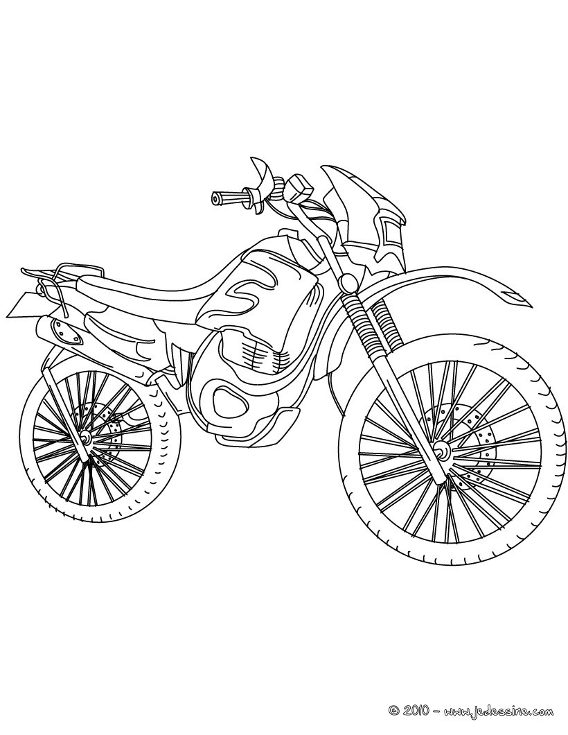 Coloriage moto-cross à imprimer