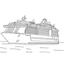 Coloriage Yacht à imprimer - Coloriage - Coloriage VEHICULES - Coloriage BATEAU - Coloriage YACHT