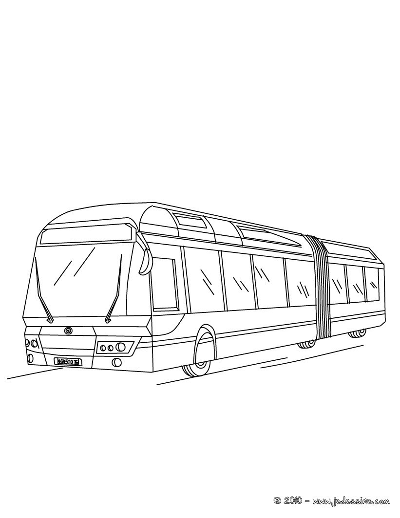 Coloriages coloriage d 39 un double bus soufflet gratuit - Dessin d un bus ...