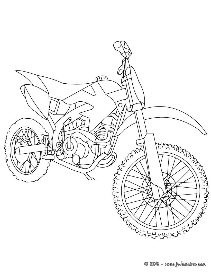 Coloriages coloriage moto cross gratuit - Coloriage de moto ...