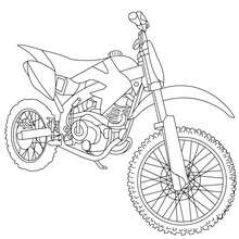 Coloriage moto-cross gratuit - Coloriage - Coloriage VEHICULES - Coloriage MOTOS - Coloriage MOTO-CROSS