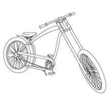 Coloriage grande bicyclette - Coloriage - Coloriage VEHICULES - Coloriage VELOS - Coloriage VELOS SPECIAUX