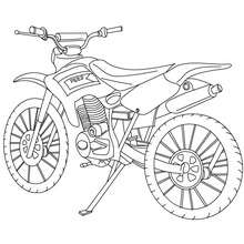 Coloriage moto-cross profil - Coloriage - Coloriage VEHICULES - Coloriage MOTOS - Coloriage MOTO-CROSS
