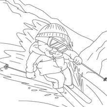 Coloriage de mamie qui fait du ski - Coloriage - Coloriage FETES - Coloriage FETE DES GRANDS MERES