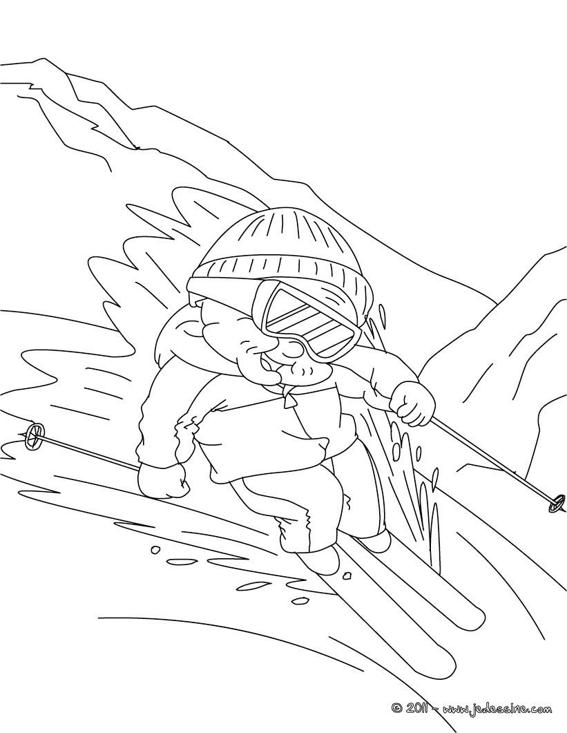 Coloriages coloriage de mamie qui fait du ski fr - Dessin de mamie ...