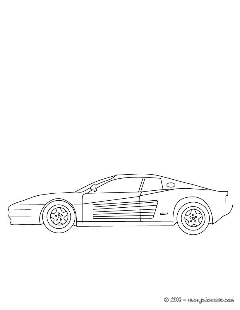 Coloriages Ferrari Testarossa à Colorier Fr Hellokids Com
