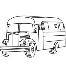 Van à colorier - Coloriage - Coloriage VEHICULES - Coloriage VAN