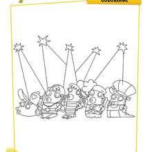 Coloriage Disney : Personnages CA BULLE à colorier