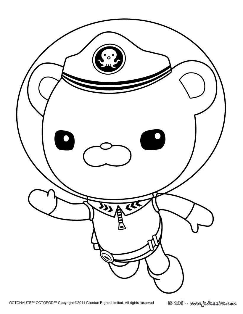 Octonauts Captain Barnacles Coloring Pages Coloring Pages
