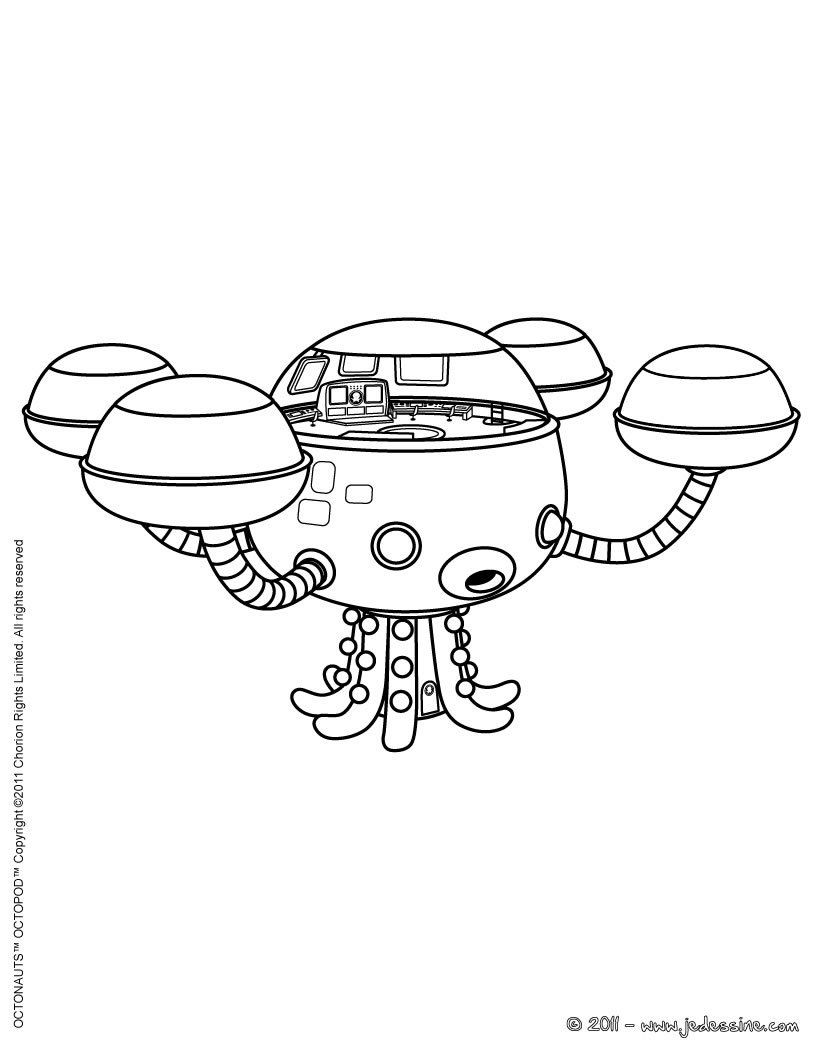 octopod colorier coloriage