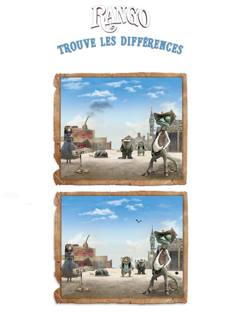 Coloriage : Jeu des différences RANGO