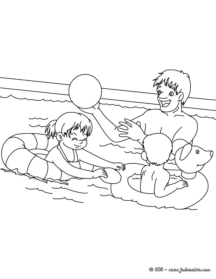 Gonfler des ballons fa§on Lucie Coloriage papa joue au ballon gratuit