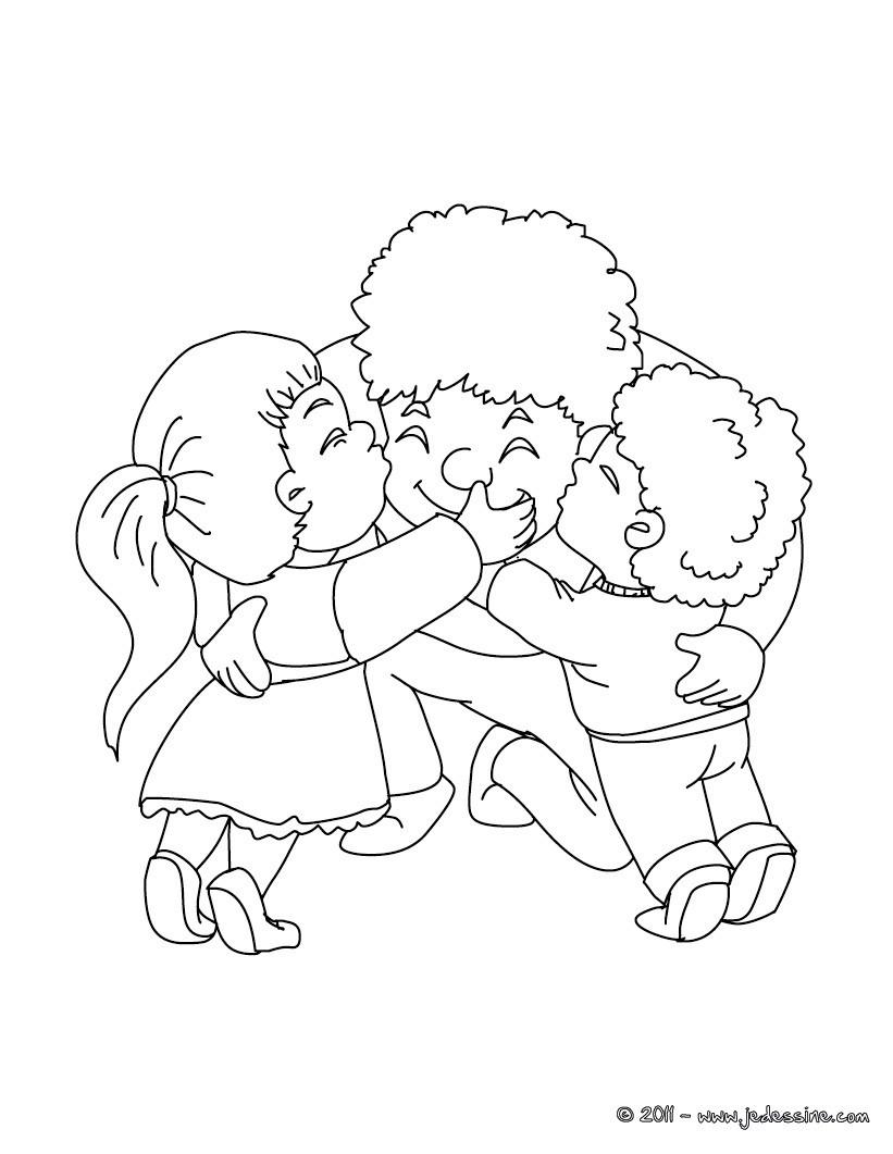Coloriage papa et ses enfants gratuit