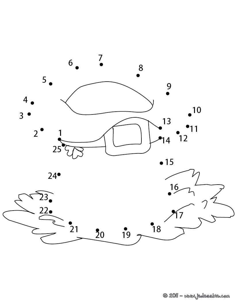 Jeu de points à relier : Chapeau de Leprechaun