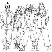 Black Eyed Peas à colorier - Coloriage - Coloriage DE STARS - Coloriage BLACK EYED PEAS