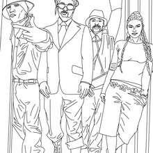 Coloriage des Black Eyed Peas - Coloriage - Coloriage DE STARS - Coloriage BLACK EYED PEAS