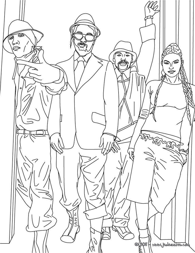 Black Eyed Peas Coloring Pages Des Black Eyed Peas Spacer