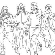 Coloriage Black Eyed Peas à imprimer - Coloriage - Coloriage DE STARS - Coloriage BLACK EYED PEAS