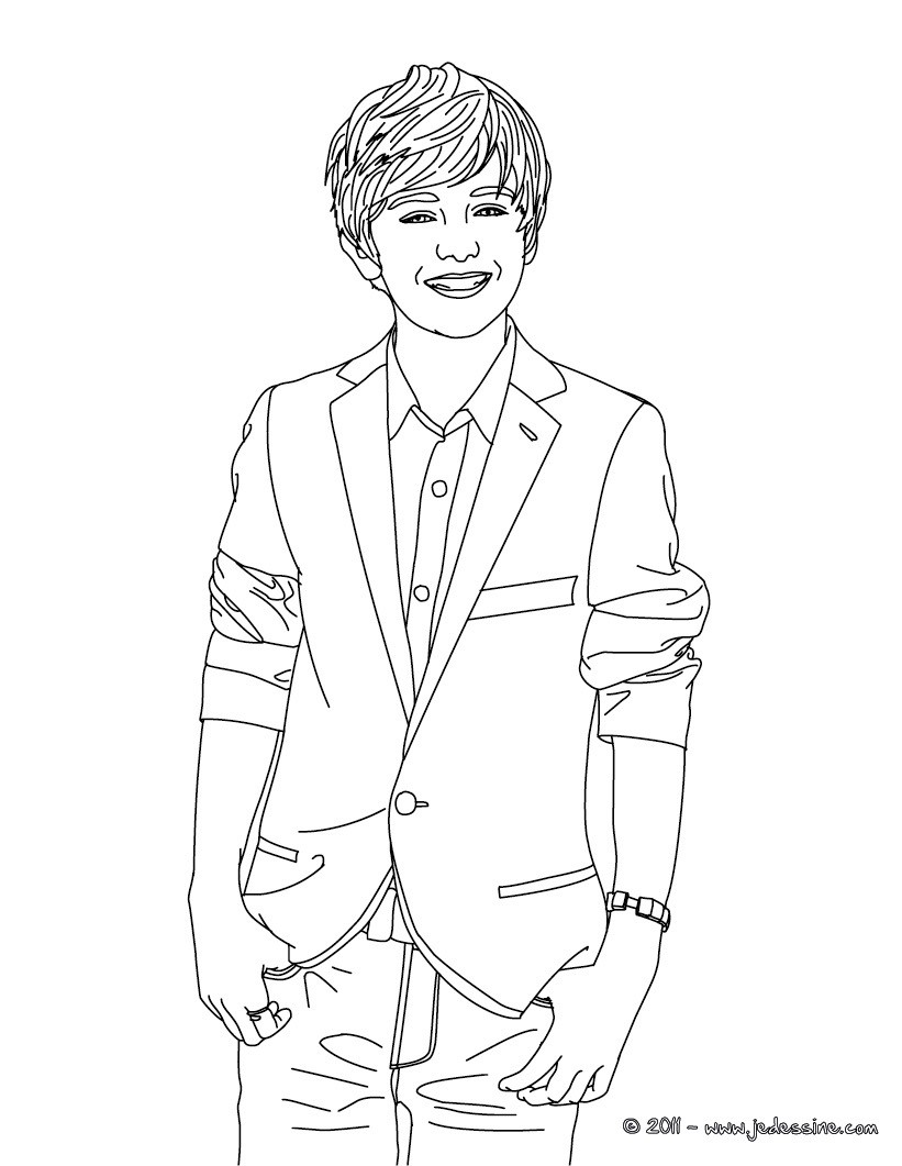 Coloriage Greyson Chance en costard