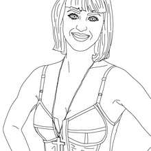Coloriage Katy Perry cheveux courts - Coloriage - Coloriage DE STARS - Coloriage KATY PERRY