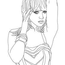 Coloriage Katy Perry pin up - Coloriage - Coloriage DE STARS - Coloriage KATY PERRY