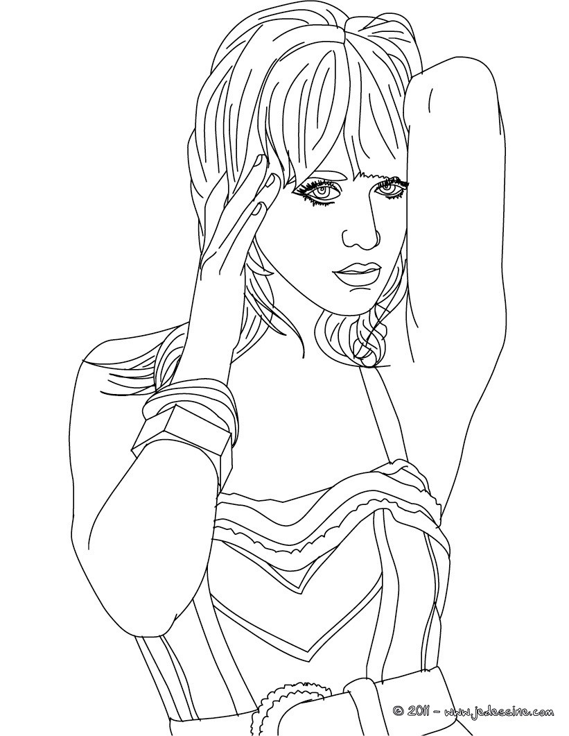 Coloriage Katy Perry pin up