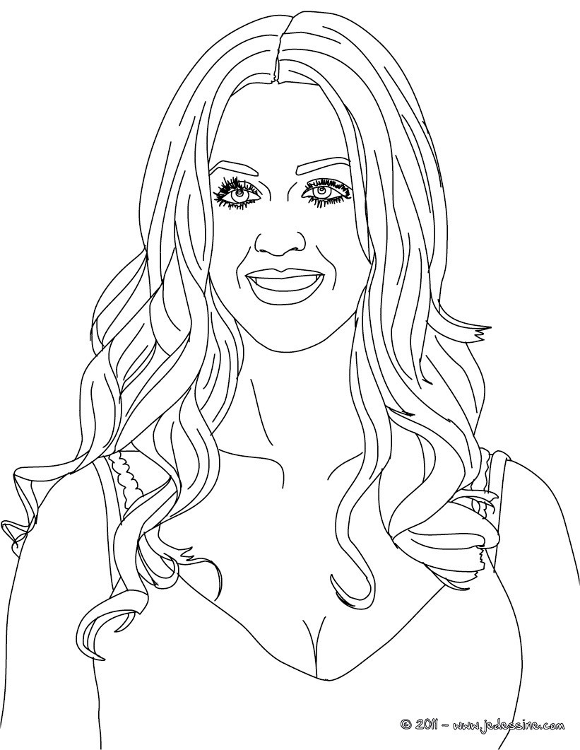 Coloriage : Portrait de  Katy Perry