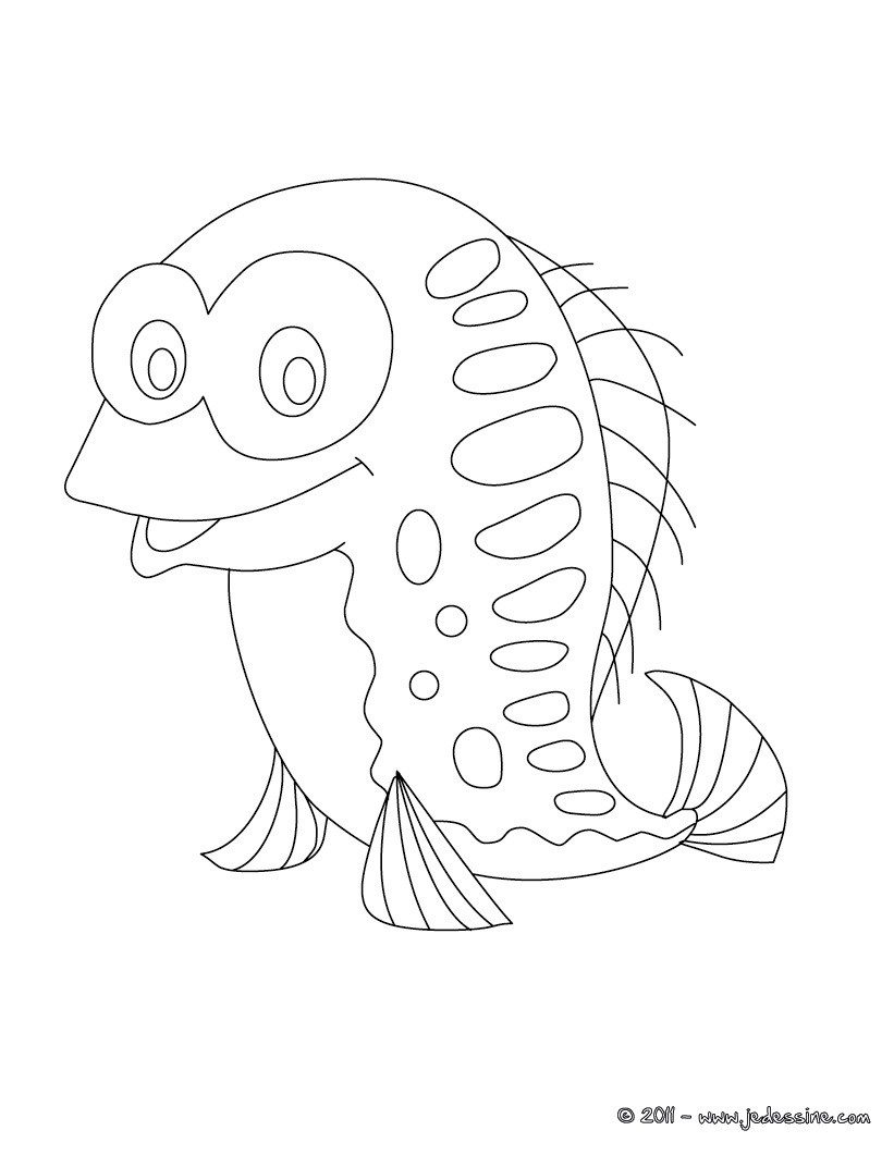 Coloriage poisson d'avril rigolo