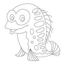 Coloriage poisson d'avril rigolo - Coloriage - Coloriage FETES - Coloriage POISSON AVRIL