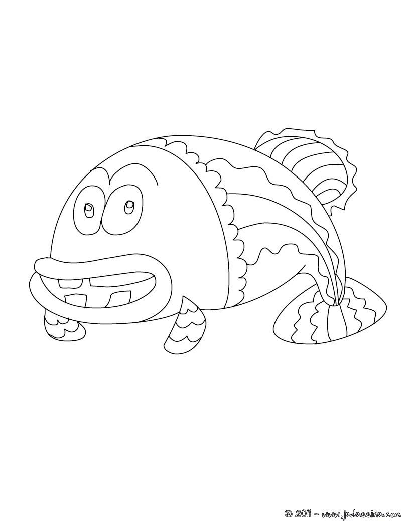 Coloriage vieux poisson d'avril à imprimer