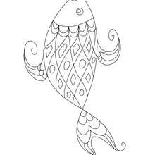 Grand poisson coloriage  imprimer - Coloriage - Coloriage FETES - Coloriage POISSON AVRIL