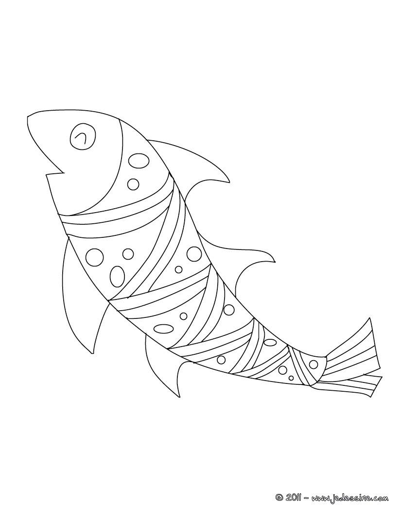 Coloriages poisson d 39 avril d couper - Coloriage a decouper ...