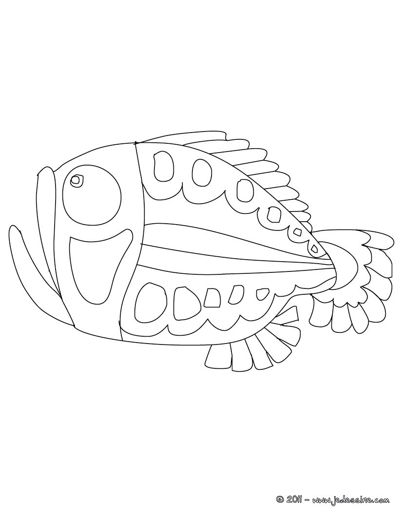 Coloriages coloriage gratuit de poisson d 39 avril fr - Coloriage avril ...