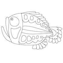 Coloriage gratuit de poisson d'avril - Coloriage - Coloriage FETES - Coloriage POISSON AVRIL
