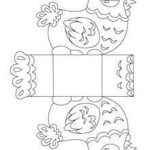 Boîte Pâque poule à colorier et découper - Coloriage - Coloriage FETES - Coloriage PAQUES - Coloriage PÂQUES à découper