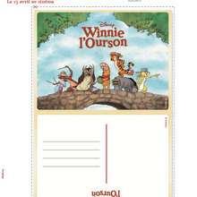 Carte Postale Winnie l'ourson