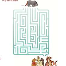 Labyrinthe BOURRIQUET - Coloriage - Coloriage DISNEY - Coloriage WINNIE L'OURSON
