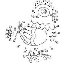 Jeu de points à relier : Poule pâques