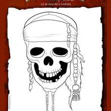 Pirate coloriages vid os et tutoriels activites - Coloriage pirate des caraibes ...