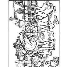 Martine Coloriage ferme à imprimer - Coloriage - Coloriage PERSONNAGE BD - Coloriage MARTINE